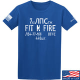 Fit'n Fire Spam Can T-Shirt T-Shirts Small / Blue by Ballistic Ink - Made in America USA
