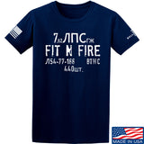 Fit'n Fire Spam Can T-Shirt T-Shirts Small / Navy by Ballistic Ink - Made in America USA