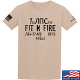 Fit'n Fire Spam Can T-Shirt T-Shirts Small / Sand by Ballistic Ink - Made in America USA
