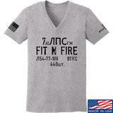Fit'n Fire Ladies Spam Can V-Neck T-Shirts, V-Neck SMALL / Light Grey by Ballistic Ink - Made in America USA