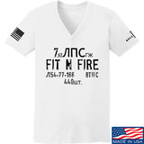 Fit'n Fire Ladies Spam Can V-Neck T-Shirts, V-Neck SMALL / White by Ballistic Ink - Made in America USA