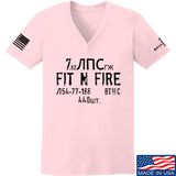 Fit'n Fire Ladies Spam Can V-Neck T-Shirts, V-Neck SMALL / Light Pink by Ballistic Ink - Made in America USA