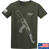 Fitty% AK Gun - Ak47 T-Shirt T-Shirts Small / Military Green by Ballistic Ink - Made in America USA