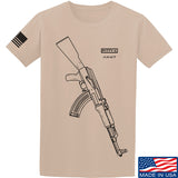 Fitty% AK Gun - Ak47 T-Shirt T-Shirts Small / Sand by Ballistic Ink - Made in America USA