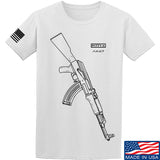 Fitty% AK Gun - Ak47 T-Shirt T-Shirts Small / White by Ballistic Ink - Made in America USA