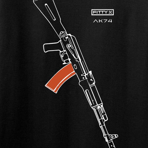 Fitty% AK Gun - Ak74AC Long Sleeve T-Shirt Long Sleeve [variant_title] by Ballistic Ink - Made in America USA