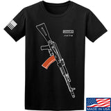 Fitty% AK Gun - Ak74AC T-Shirt T-Shirts Small / Black by Ballistic Ink - Made in America USA