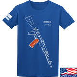 Fitty% AK Gun - Ak74AC T-Shirt T-Shirts Small / Blue by Ballistic Ink - Made in America USA