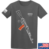 Fitty% AK Gun - Ak74AC T-Shirt T-Shirts Small / Charcoal by Ballistic Ink - Made in America USA