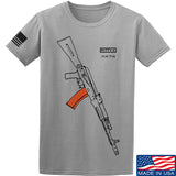 Fitty% AK Gun - Ak74AC T-Shirt T-Shirts Small / Light Grey by Ballistic Ink - Made in America USA