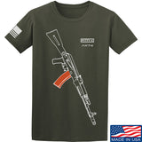 Fitty% AK Gun - Ak74AC T-Shirt T-Shirts Small / Military Green by Ballistic Ink - Made in America USA
