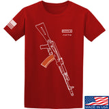 Fitty% AK Gun - Ak74AC T-Shirt T-Shirts Small / Red by Ballistic Ink - Made in America USA