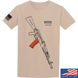 Fitty% AK Gun - Ak74AC T-Shirt T-Shirts Small / Sand by Ballistic Ink - Made in America USA