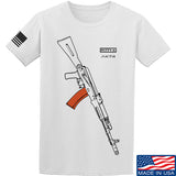 Fitty% AK Gun - Ak74AC T-Shirt T-Shirts Small / White by Ballistic Ink - Made in America USA