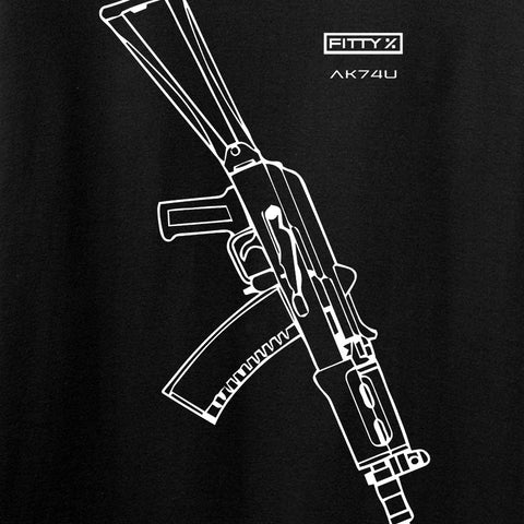 Fitty% AK Gun - Ak74U Long Sleeve T-Shirt Long Sleeve [variant_title] by Ballistic Ink - Made in America USA
