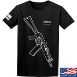 Fitty% AK Gun - Ak74U T-Shirt T-Shirts Small / Black by Ballistic Ink - Made in America USA