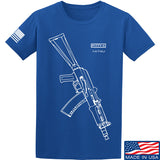 Fitty% AK Gun - Ak74U T-Shirt T-Shirts Small / Blue by Ballistic Ink - Made in America USA