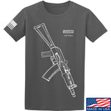 Fitty% AK Gun - Ak74U T-Shirt T-Shirts Small / Charcoal by Ballistic Ink - Made in America USA