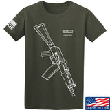 Fitty% AK Gun - Ak74U T-Shirt T-Shirts Small / Military Green by Ballistic Ink - Made in America USA