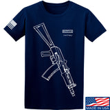 Fitty% AK Gun - Ak74U T-Shirt T-Shirts Small / Navy by Ballistic Ink - Made in America USA