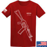 Fitty% AK Gun - Ak74U T-Shirt T-Shirts Small / Red by Ballistic Ink - Made in America USA