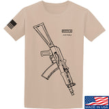 Fitty% AK Gun - Ak74U T-Shirt T-Shirts Small / Sand by Ballistic Ink - Made in America USA