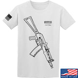 Fitty% AK Gun - Ak74U T-Shirt T-Shirts Small / White by Ballistic Ink - Made in America USA