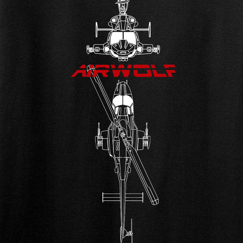 Fitty% Aviation - Airwolf Long Sleeve T-Shirt Long Sleeve [variant_title] by Ballistic Ink - Made in America USA