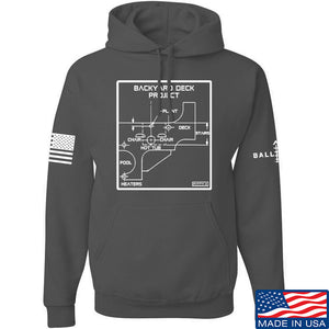 Fitty% Deck Project Hoodie Hoodies Small / Black by Ballistic Ink - Made in America USA