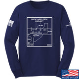 Fitty% Deck Project Long Sleeve T-Shirt Long Sleeve Small / Navy by Ballistic Ink - Made in America USA