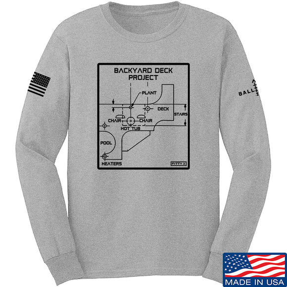 Fitty% Deck Project Long Sleeve T-Shirt Long Sleeve Small / Light Grey by Ballistic Ink - Made in America USA