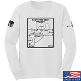 Fitty% Deck Project Long Sleeve T-Shirt Long Sleeve Small / White by Ballistic Ink - Made in America USA