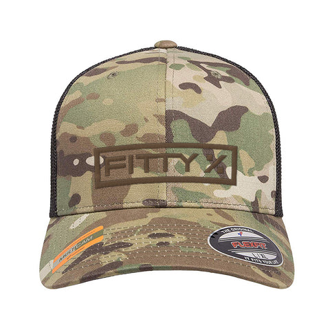 Fitty% Fitty% Logo Flexfit® Multicam® Trucker Mesh Cap Headwear [variant_title] by Ballistic Ink - Made in America USA