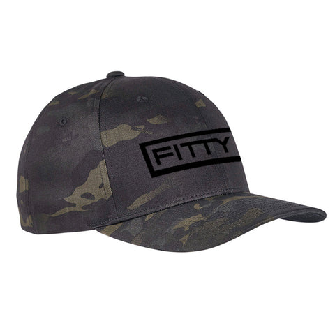 Fitty% Fitty% Logo Flexfit® Multicam® Trucker Cap Headwear [variant_title] by Ballistic Ink - Made in America USA