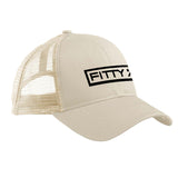 Fitty% Fitty% Full Logo Snapback Cap Headwear Oyster by Ballistic Ink - Made in America USA