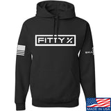 Fitty% Fitty% Full Logo Hoodie Hoodies Small / Black by Ballistic Ink - Made in America USA