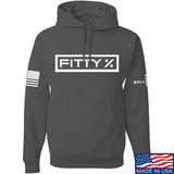 Fitty% Fitty% Full Logo Hoodie Hoodies Small / Charcoal by Ballistic Ink - Made in America USA