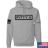 Fitty% Fitty% Full Logo Hoodie Hoodies Small / Light Grey by Ballistic Ink - Made in America USA