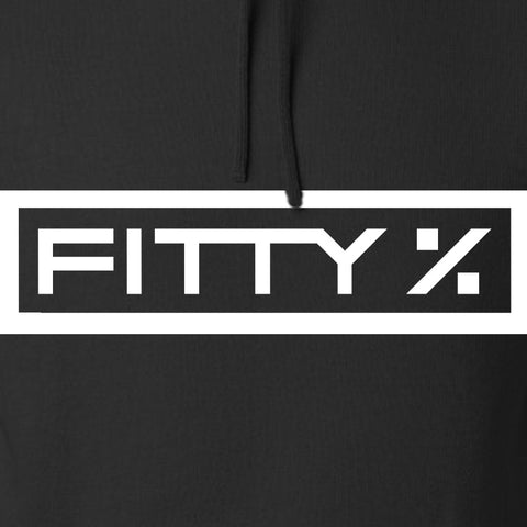 Fitty% Fitty% Full Logo Hoodie Hoodies [variant_title] by Ballistic Ink - Made in America USA