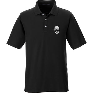 Fitty% Fitty% Logo Polo Polos Small / Graphite by Ballistic Ink - Made in America USA
