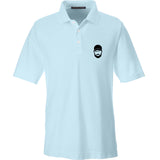 Fitty% Fitty% Logo Polo Polos Small / Crystal Blue by Ballistic Ink - Made in America USA