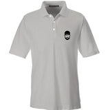 Fitty% Fitty% Logo Polo Polos Small / Silver by Ballistic Ink - Made in America USA