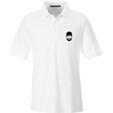 Fitty% Fitty% Logo Polo Polos Small / White by Ballistic Ink - Made in America USA