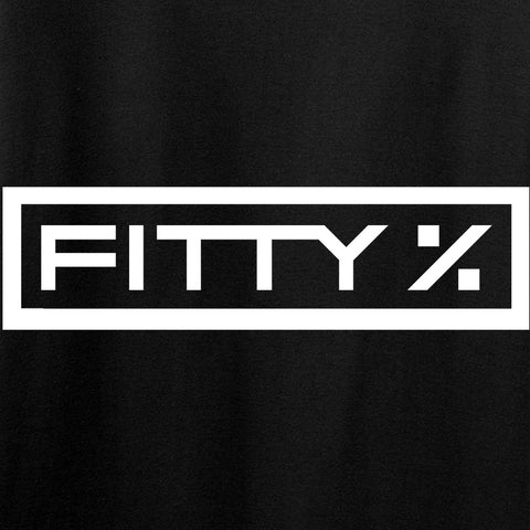 Fitty% Fitty% Full Logo Long Sleeve T-Shirt Long Sleeve [variant_title] by Ballistic Ink - Made in America USA