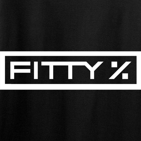 Fitty% Ladies Fitty% Full Logo V-Neck T-Shirts, V-Neck [variant_title] by Ballistic Ink - Made in America USA
