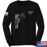 Fitty% Pistol - 2011 Long Sleeve T-Shirt Long Sleeve Small / Black by Ballistic Ink - Made in America USA