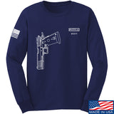 Fitty% Pistol - 2011 Long Sleeve T-Shirt Long Sleeve Small / Navy by Ballistic Ink - Made in America USA