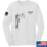 Fitty% Pistol - 2011 Long Sleeve T-Shirt Long Sleeve Small / White by Ballistic Ink - Made in America USA
