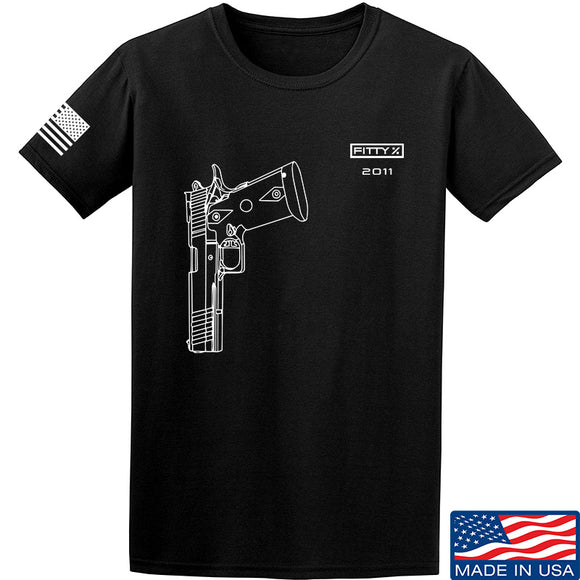 Fitty% Pistol - 2011 T-Shirt T-Shirts Small / Black by Ballistic Ink - Made in America USA