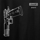 Fitty% Pistol - 2011 T-Shirt T-Shirts [variant_title] by Ballistic Ink - Made in America USA